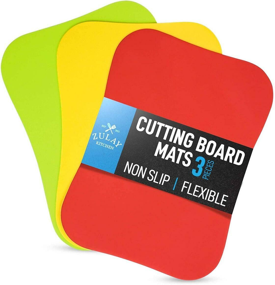 Extra Thick Flexible Cutting Board Mats Curved Edge 3 Boards | Trada Marketplace