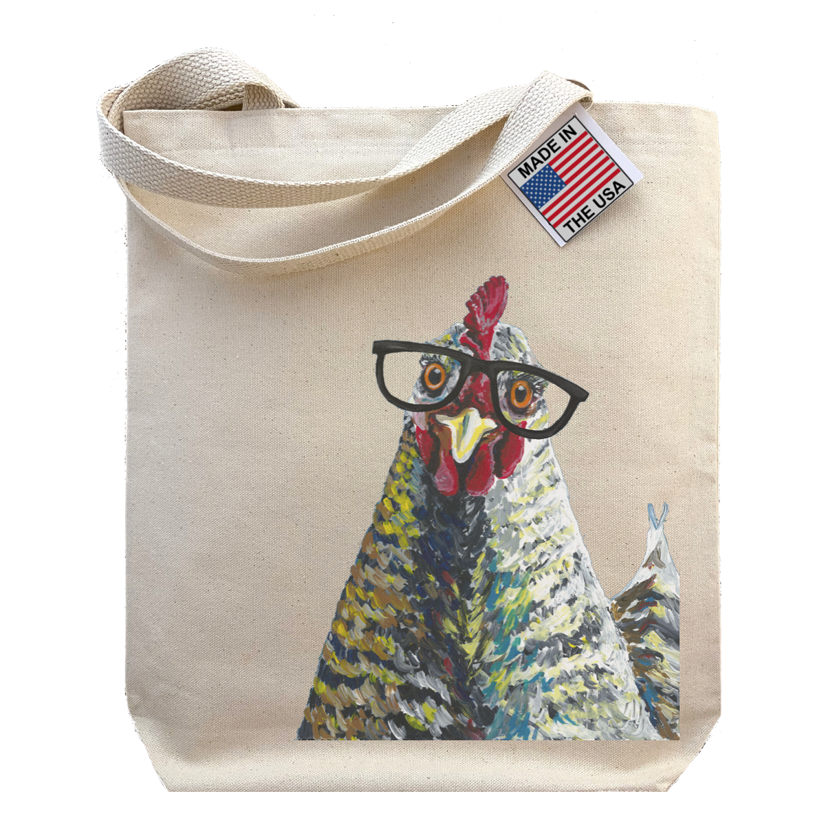 Gusseted Tote Bag,  Chicken Tote Bag,  Animal Shopping To   Trada Marketplace