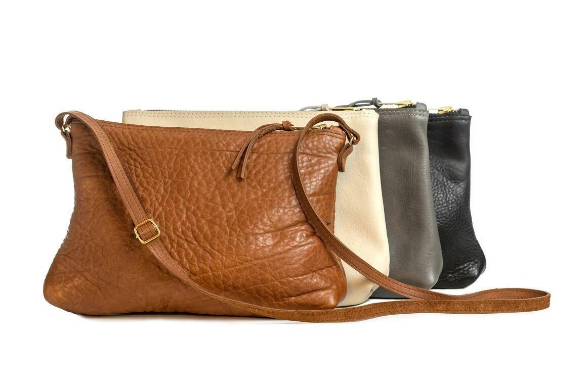 Pat Leather Medium Cross Body - Lined | Trada Marketplace