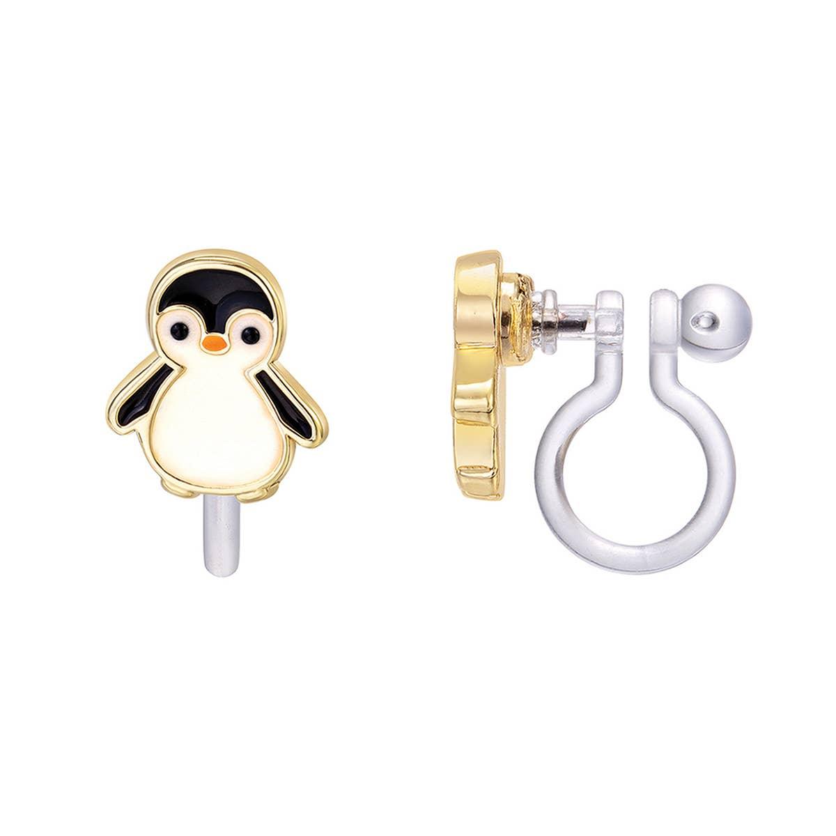 CLIP ON Cutie Earrings- Personable Penguin   Trada Marketplace