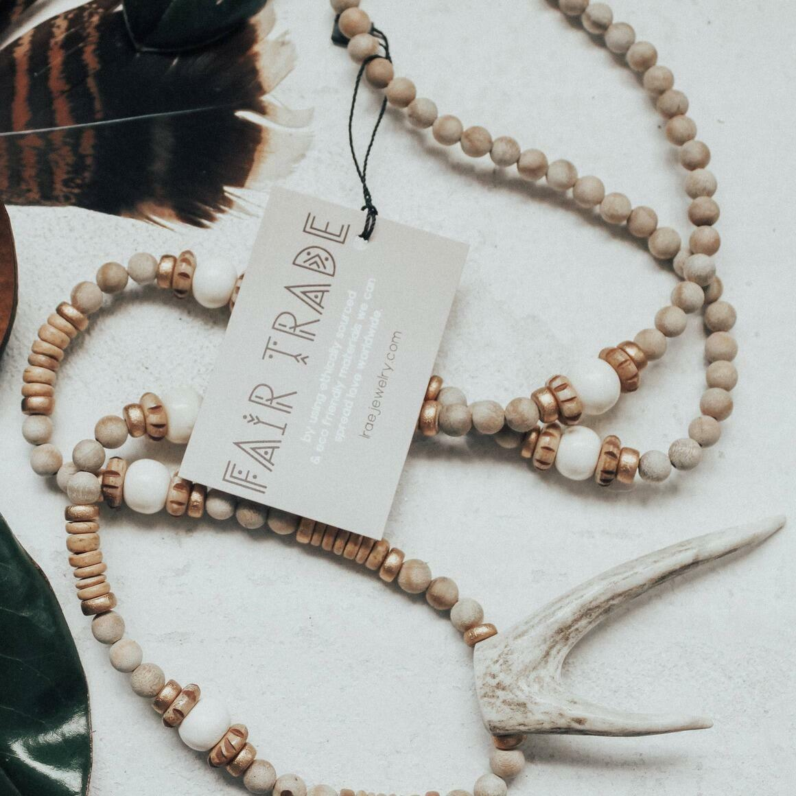 Deer Fork Necklace. Fair Trade   Trada Marketplace