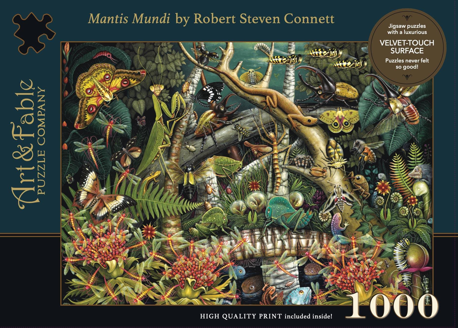 Mantis Mundi, 1000-pc Velvet-Touch Jigsaw Puzzle by artist RS Connett | Trada Marketplace