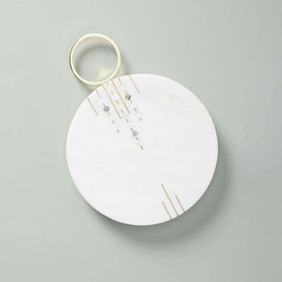 """Abruzzo Round Marble Cheese Board (13.5""""x10"""")   Trada Marketplace"""