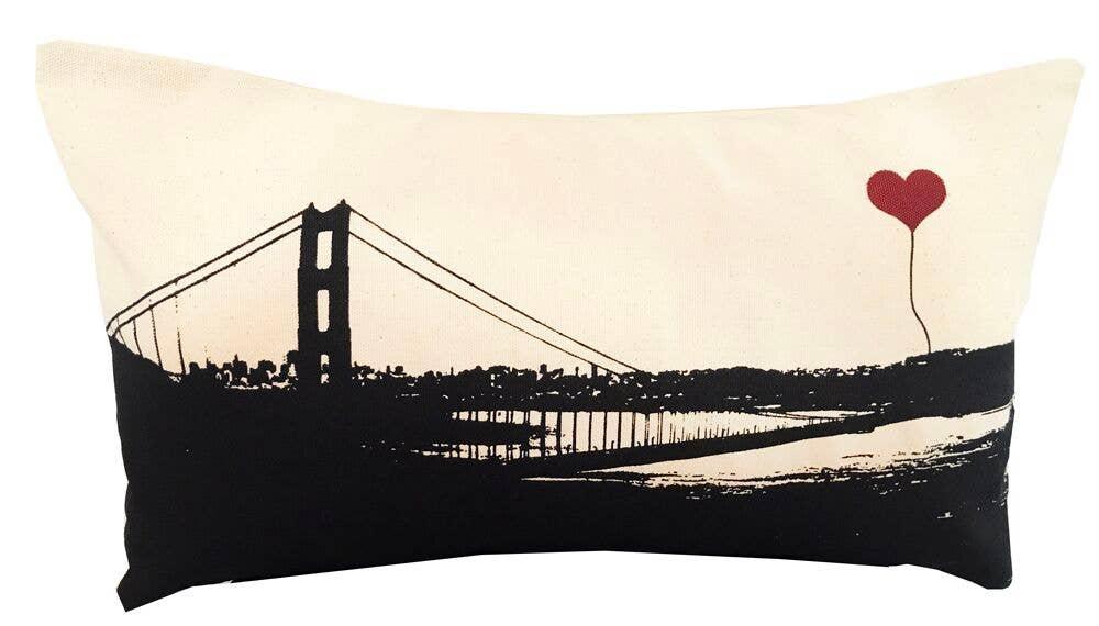 "San Francisco Golden Gate Bridge 10""x18"" Rectangular Pillow | Trada Marketplace"