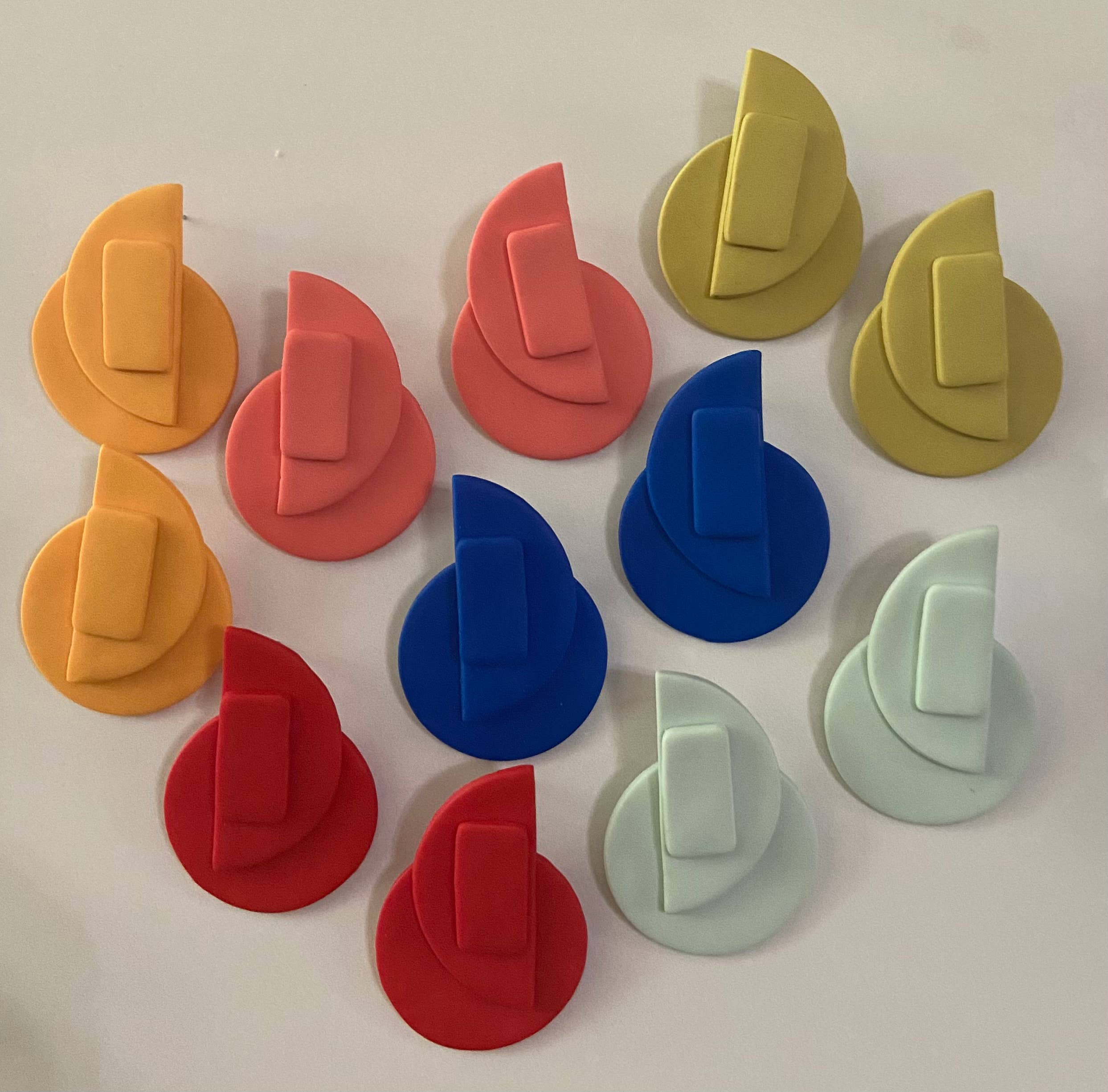 Geometric Clay Studs | Trada Marketplace