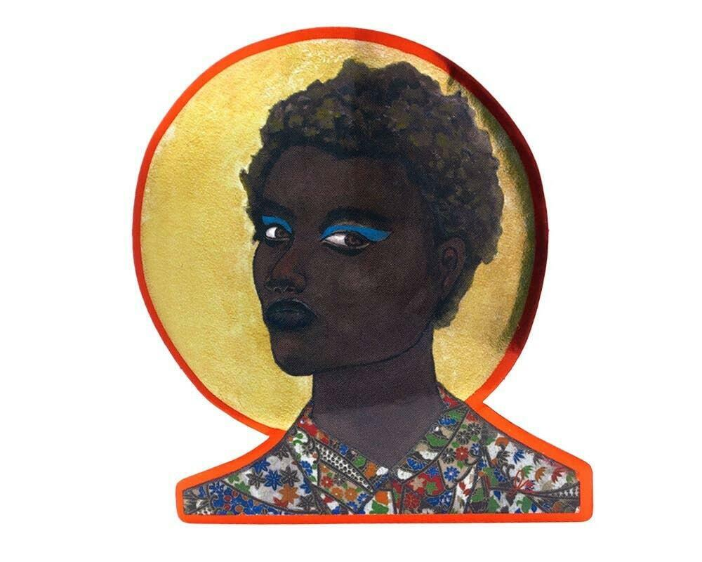 Portrait 1 Art Sticker | Trada Marketplace