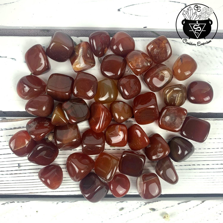 Carnelian Crystal Tumbled Stones | Trada Marketplace