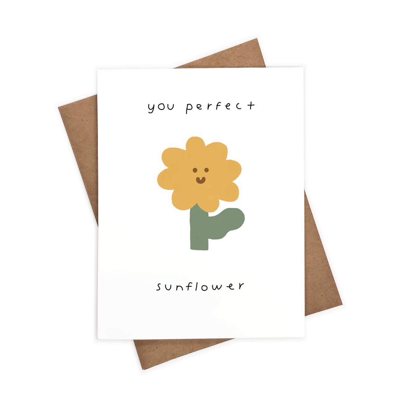You Perfect Sunflower Greeting Card   Trada Marketplace