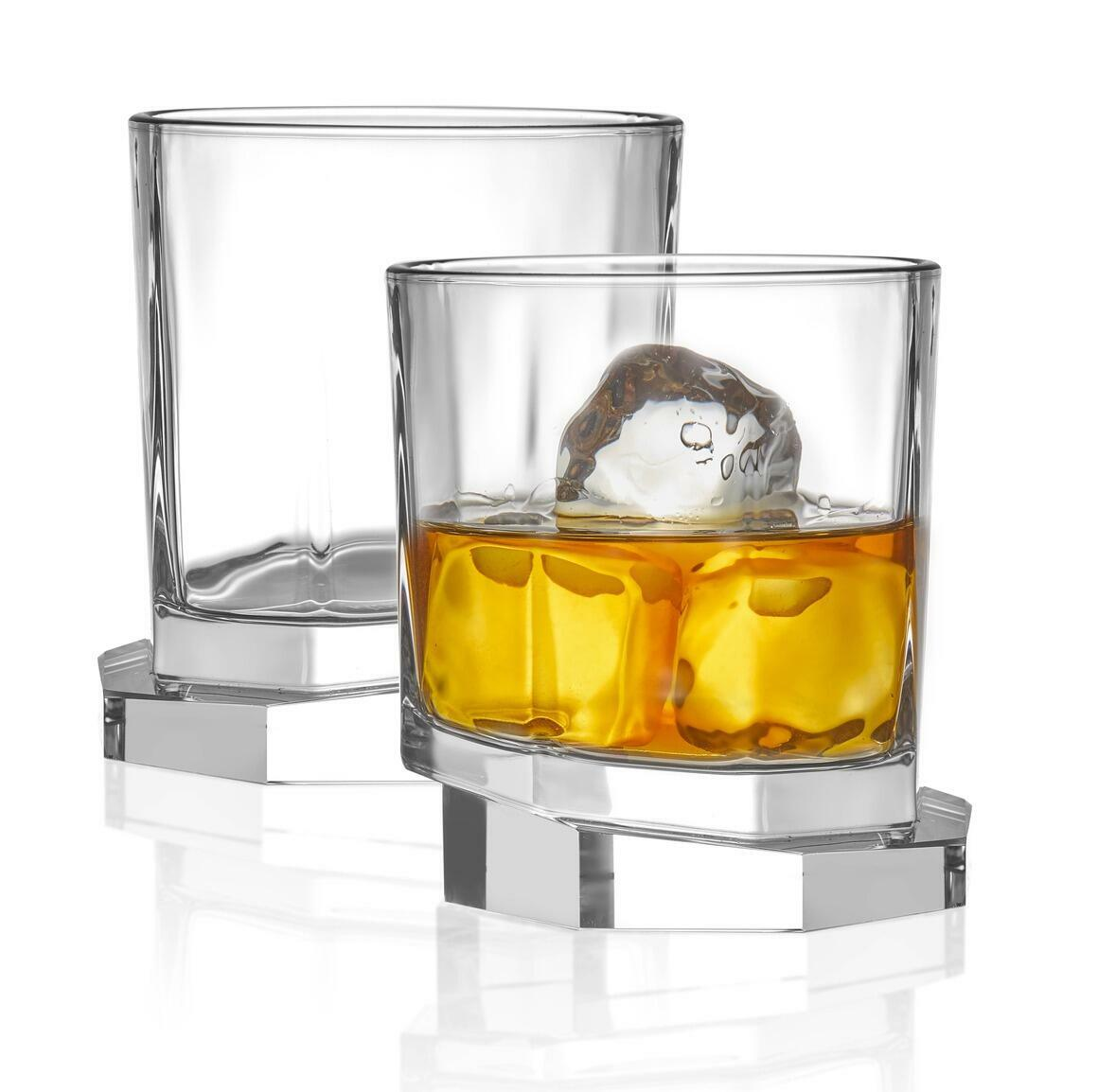 Aqua Vitae Octagon Crystal Whiskey Glass, 10.5oz (Set of 2)  | Trada Marketplace