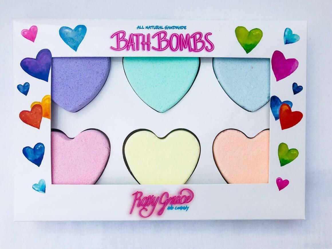 Heart Bath Bombs Gift Box | Trada Marketplace