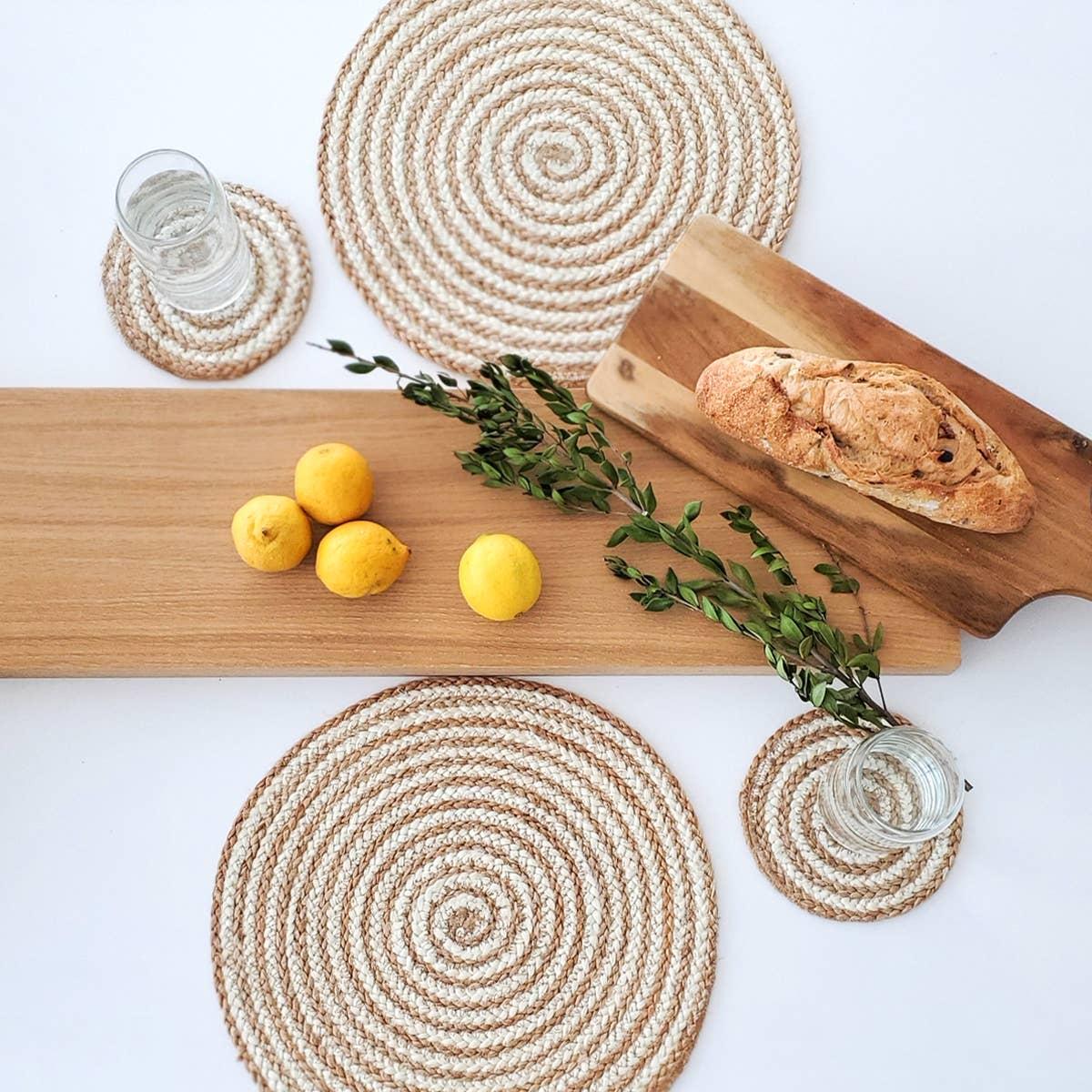 Kata Spiral Coaster - Natural (Set of 4)   Trada Marketplace