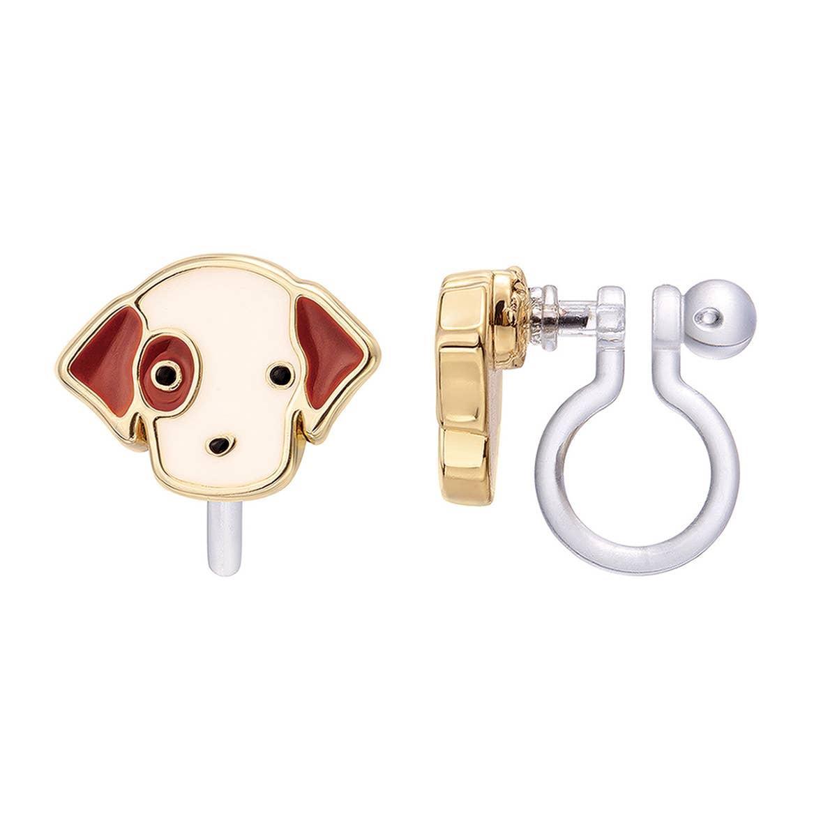 CLIP ON Cutie Earrings- Perky Puppy | Trada Marketplace