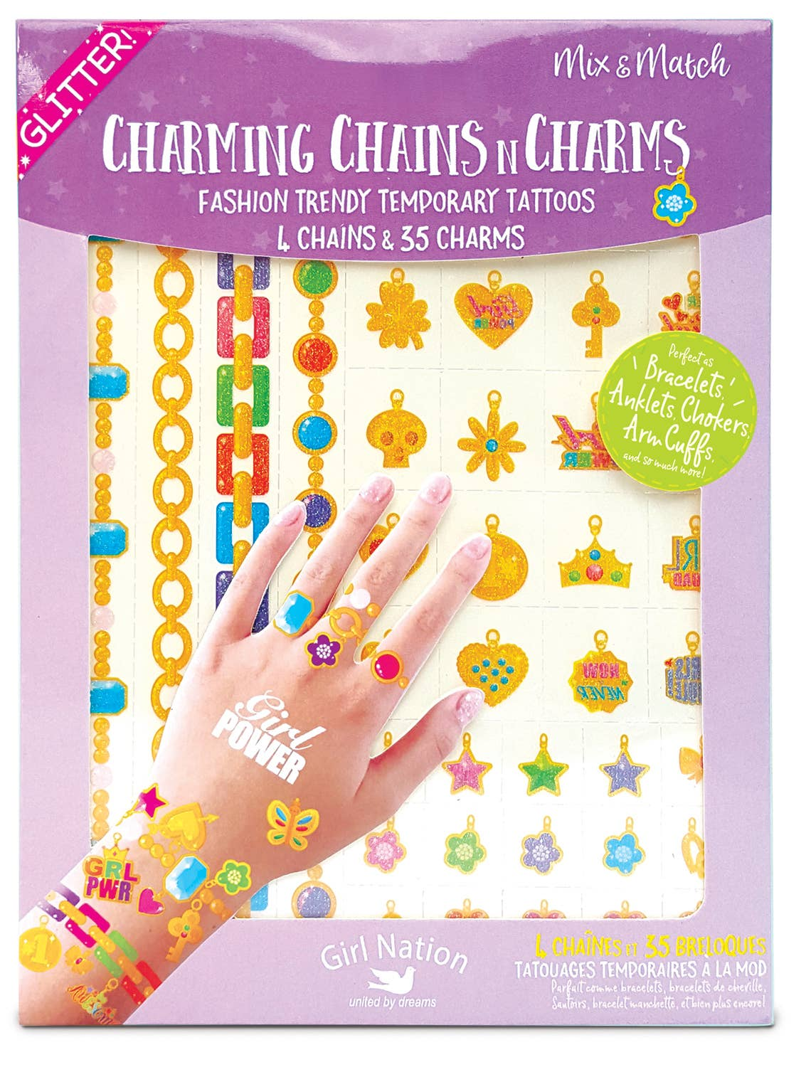 Chains n Charms Temporary Tattoos Value Pack | Trada Marketplace