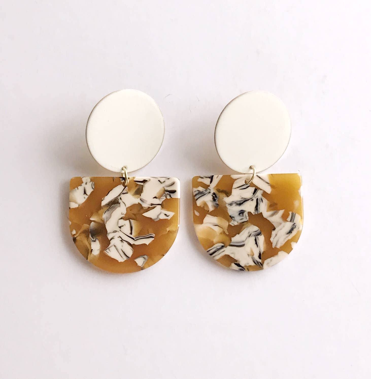 valley earrings - ivory / mustard safari   Trada Marketplace