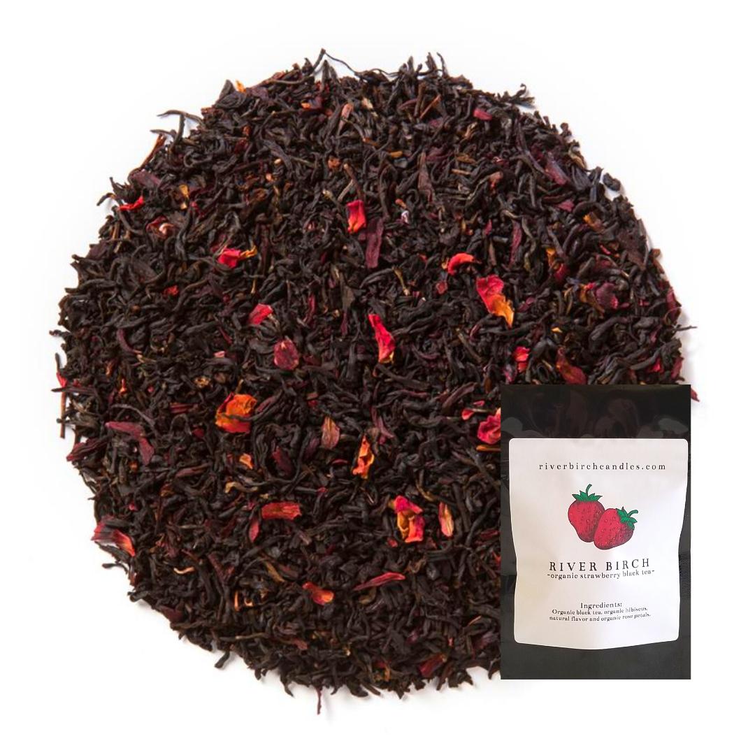 Organic Strawberry Black Tea   Trada Marketplace