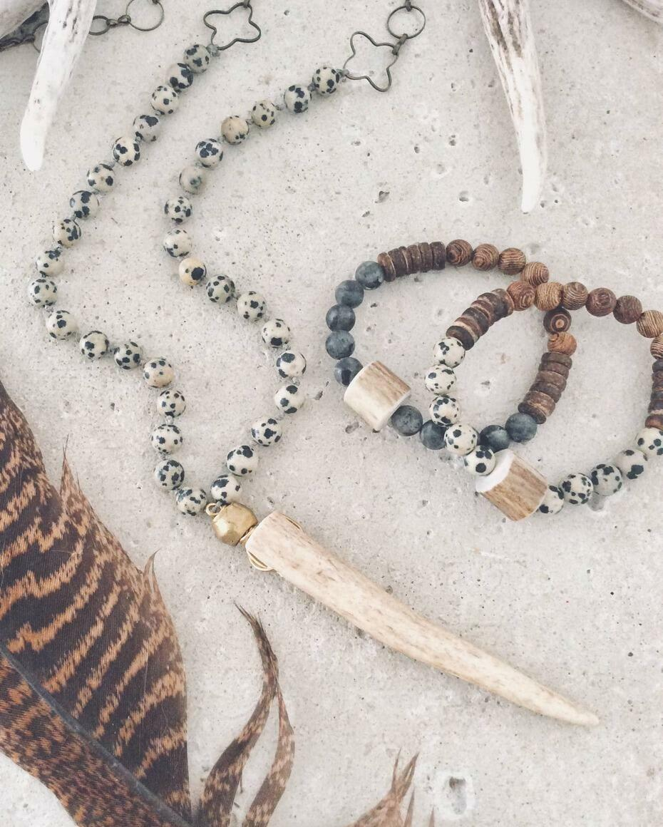 Knotted Gemstone Antler Necklace -Southern Style (Copy)   Trada Marketplace