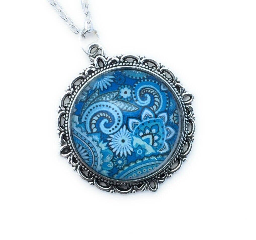 Blue  Paisley  Necklace | Trada Marketplace