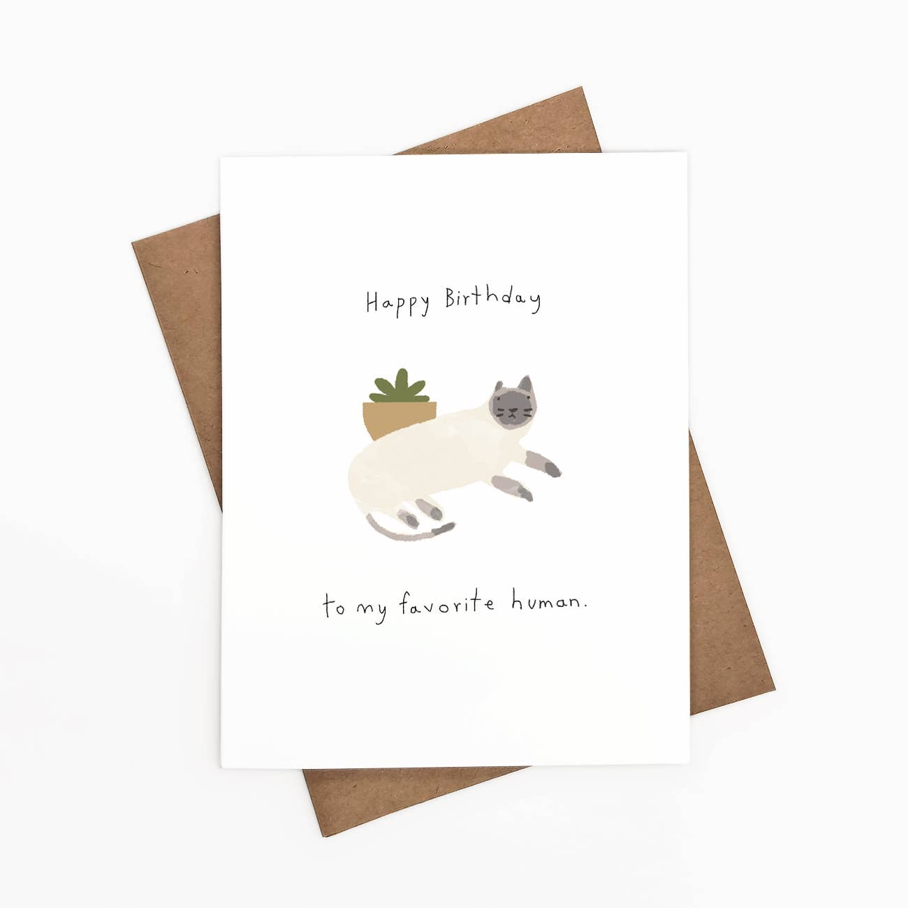 Happy Birthday To My Favorite Human Greeting Card   Trada Marketplace