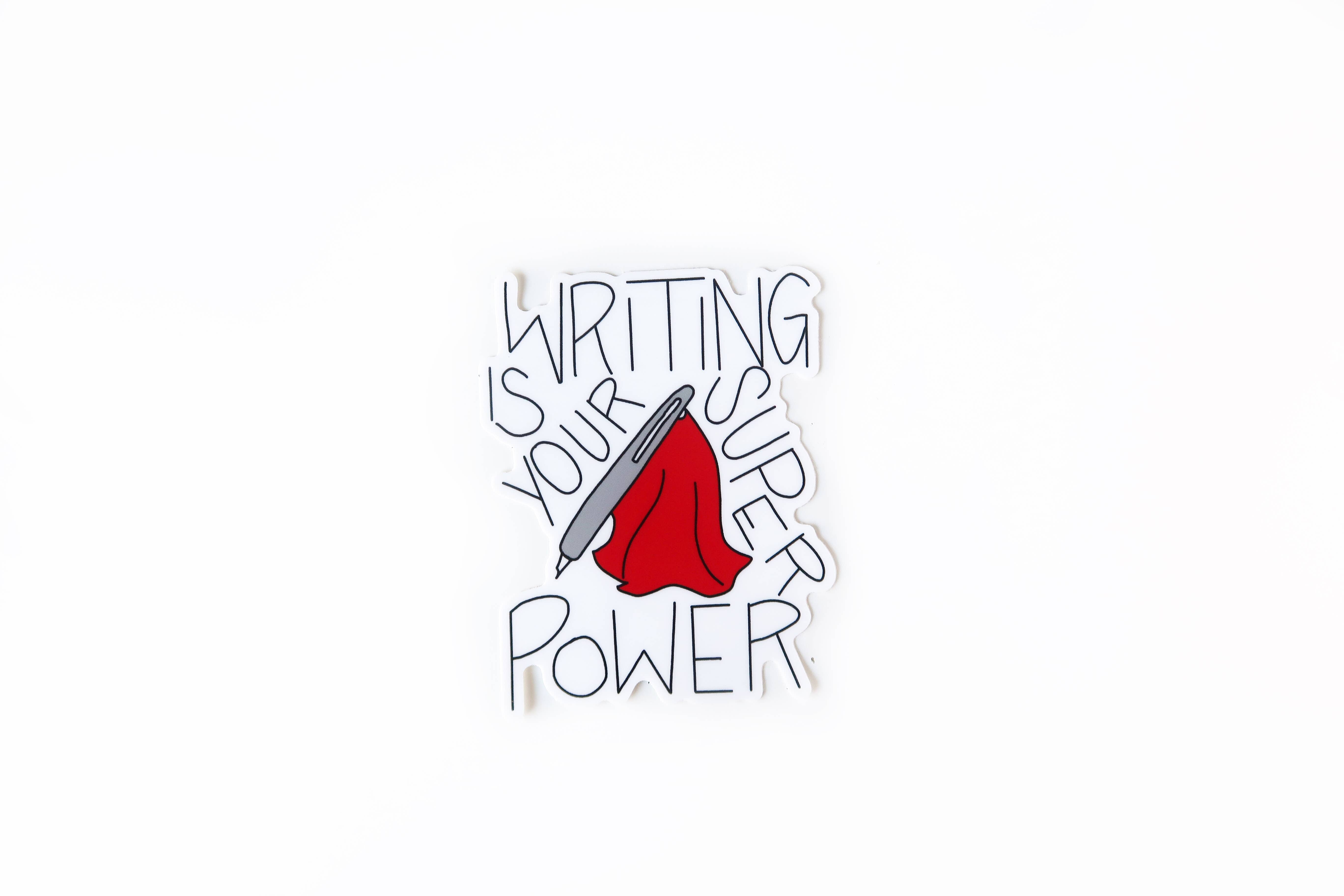 Writing Is Your Superpower Sticker | Trada Marketplace