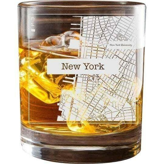 New York College Town Glasses (Set of 2)   Trada Marketplace
