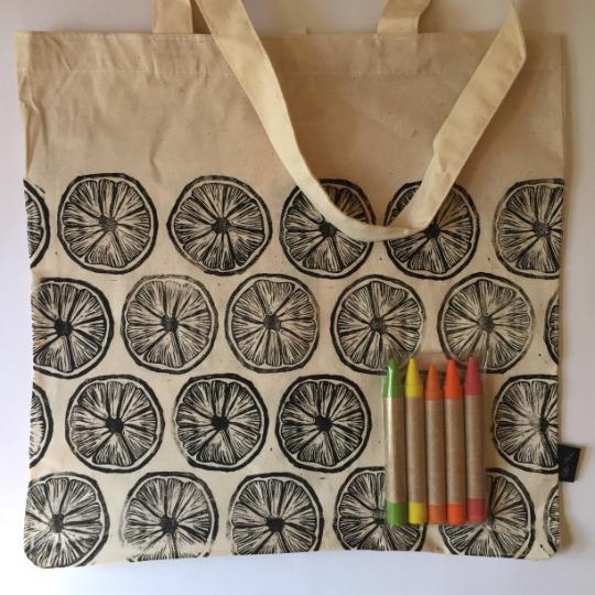 Citrus: CYO Market Tote Kit with Eco-Friendly Crayons | Trada Marketplace