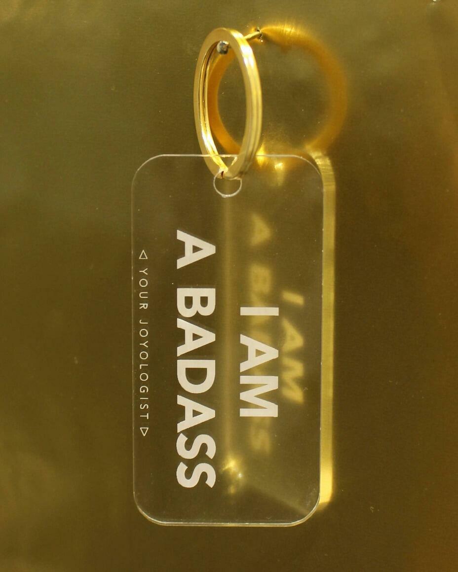 I am a badass - keychain   Trada Marketplace