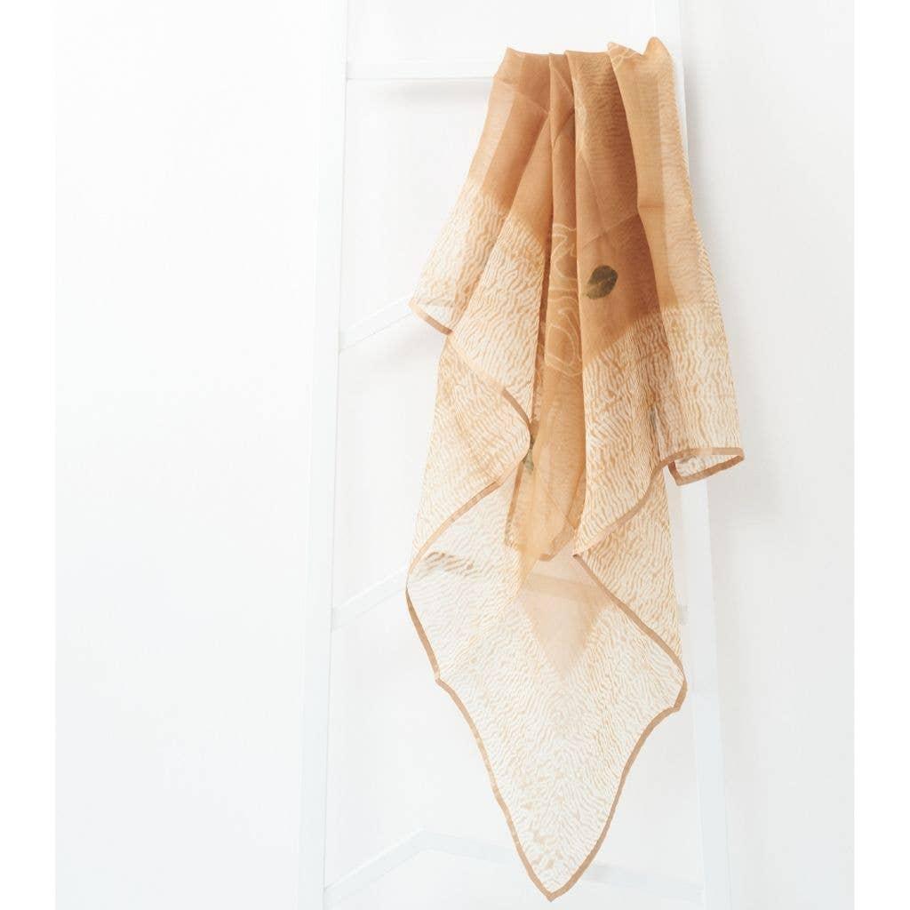 Primrose Cinnamon Silk Organza Square Scarf | Trada Marketplace