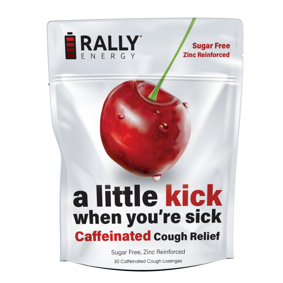 Rally Energy Cough Relief - Caffeinated Cherry Cough Lozenge   Trada Marketplace