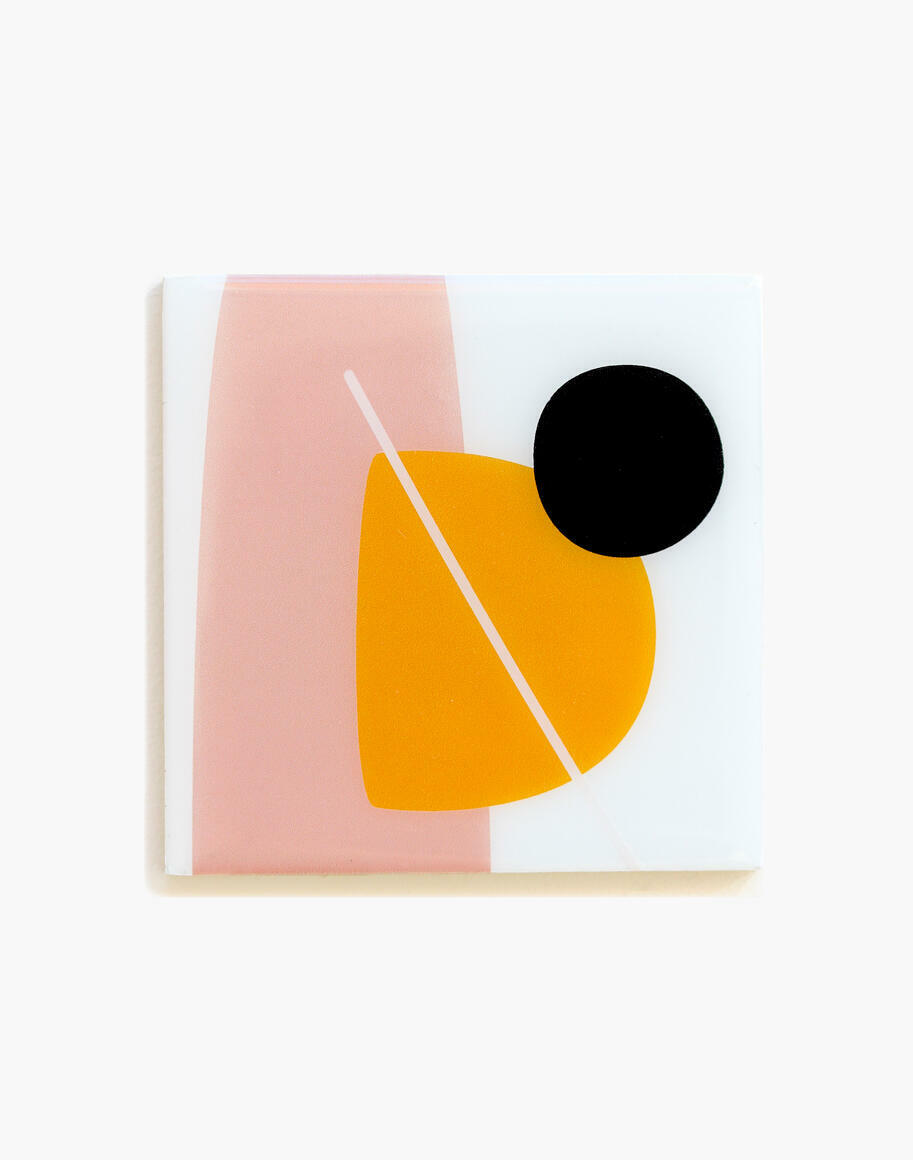 Abstract Orange set of 4 coasters   Trada Marketplace