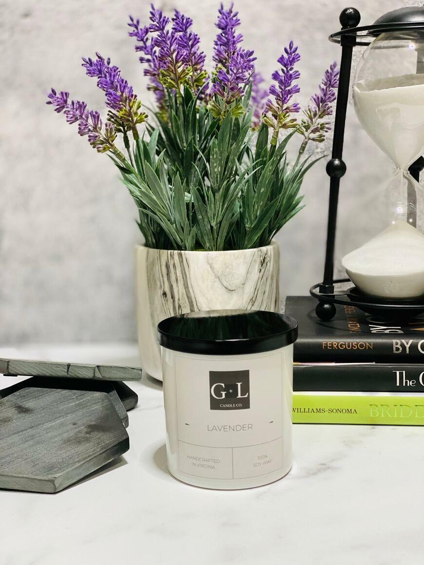 Lavender - 8 oz. Candle   Trada Marketplace