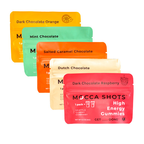 Mocca Shots Caffein Gummies Variety Box (12-Pack)   Trada Marketplace