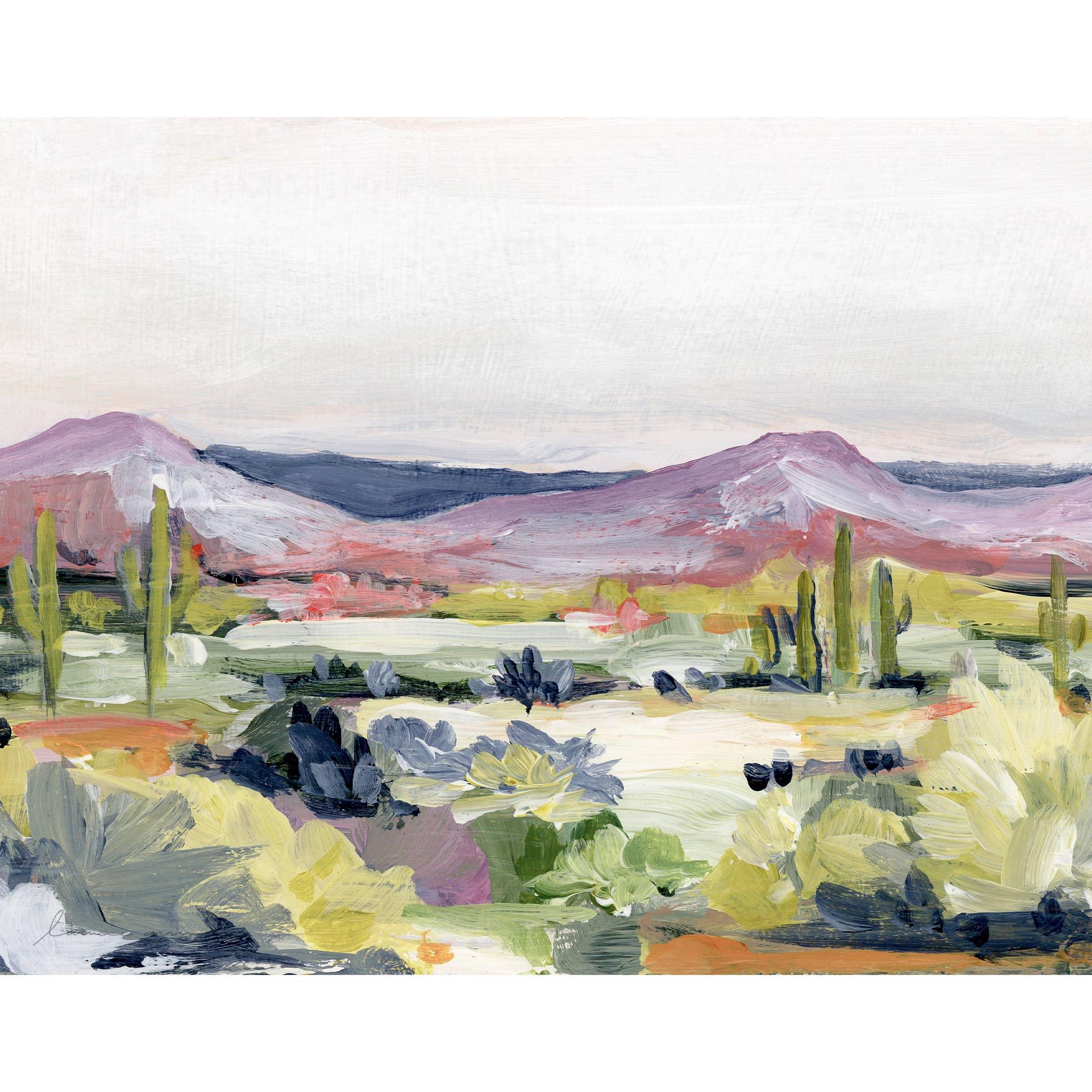 Desert Flora Horizontal Canvas Print   Trada Marketplace