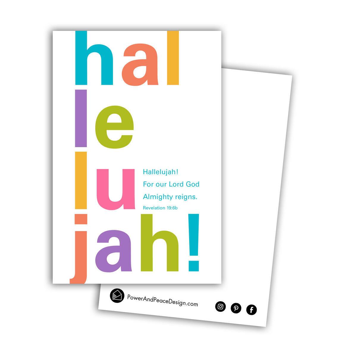 Revelation 19:6 postcard in bright colors   Trada Marketplace