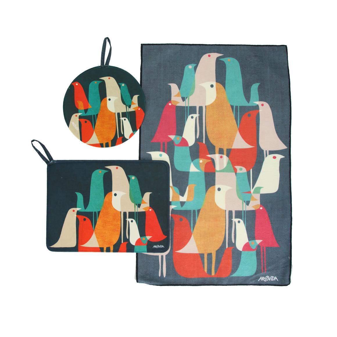Trivet & Towel Set -  Budi Kwan - Flock of Birds | Trada Marketplace