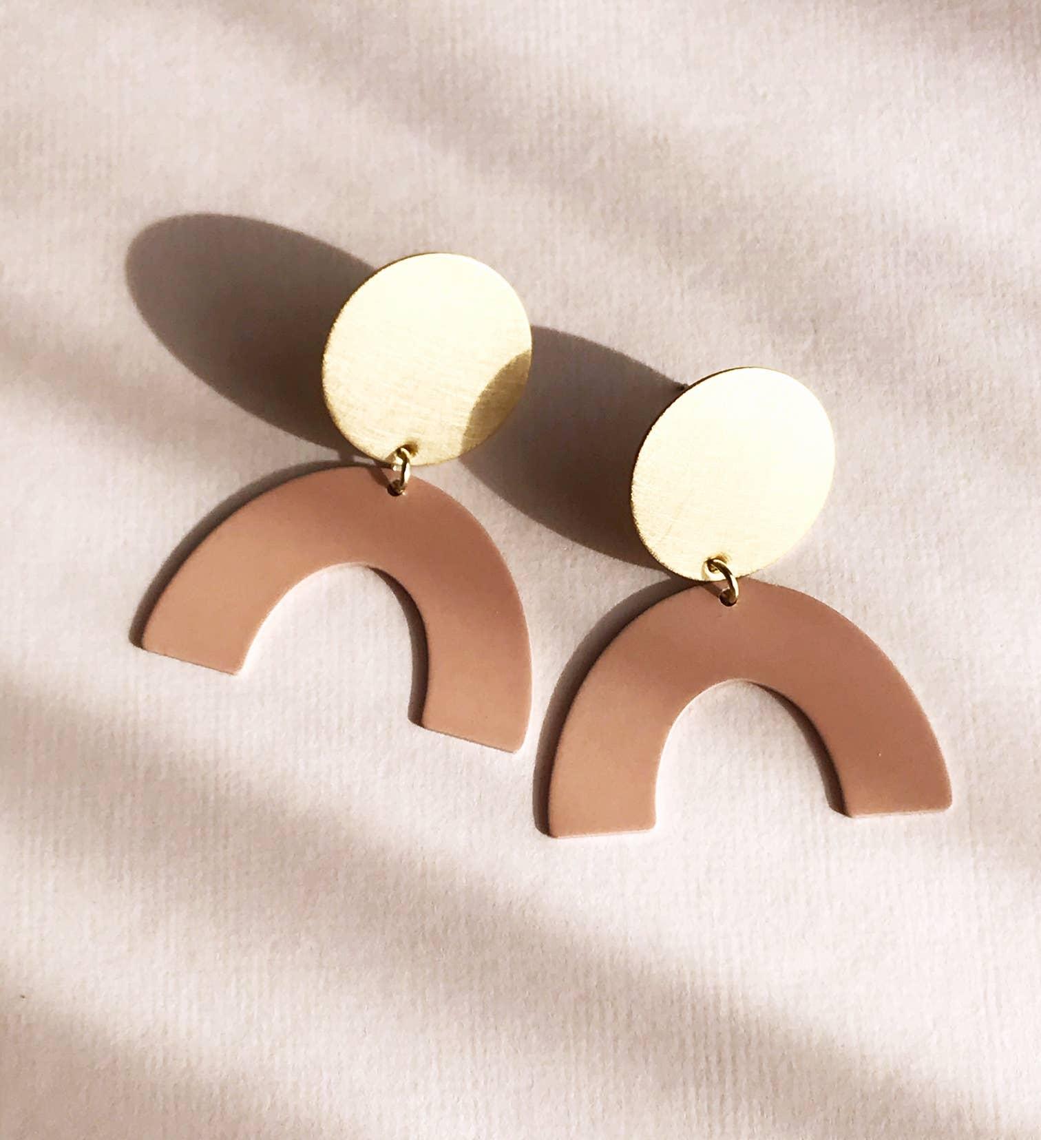 moon rising earrings - blush   Trada Marketplace