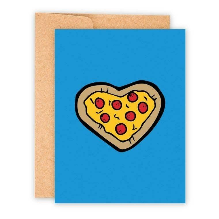 Pizza Heart A2 Greeting Card with Envelope | Trada Marketplace