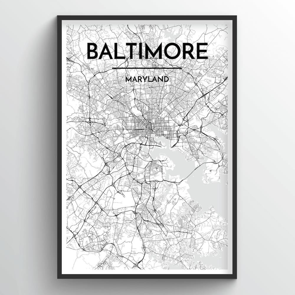 Baltimore City Map | Trada Marketplace