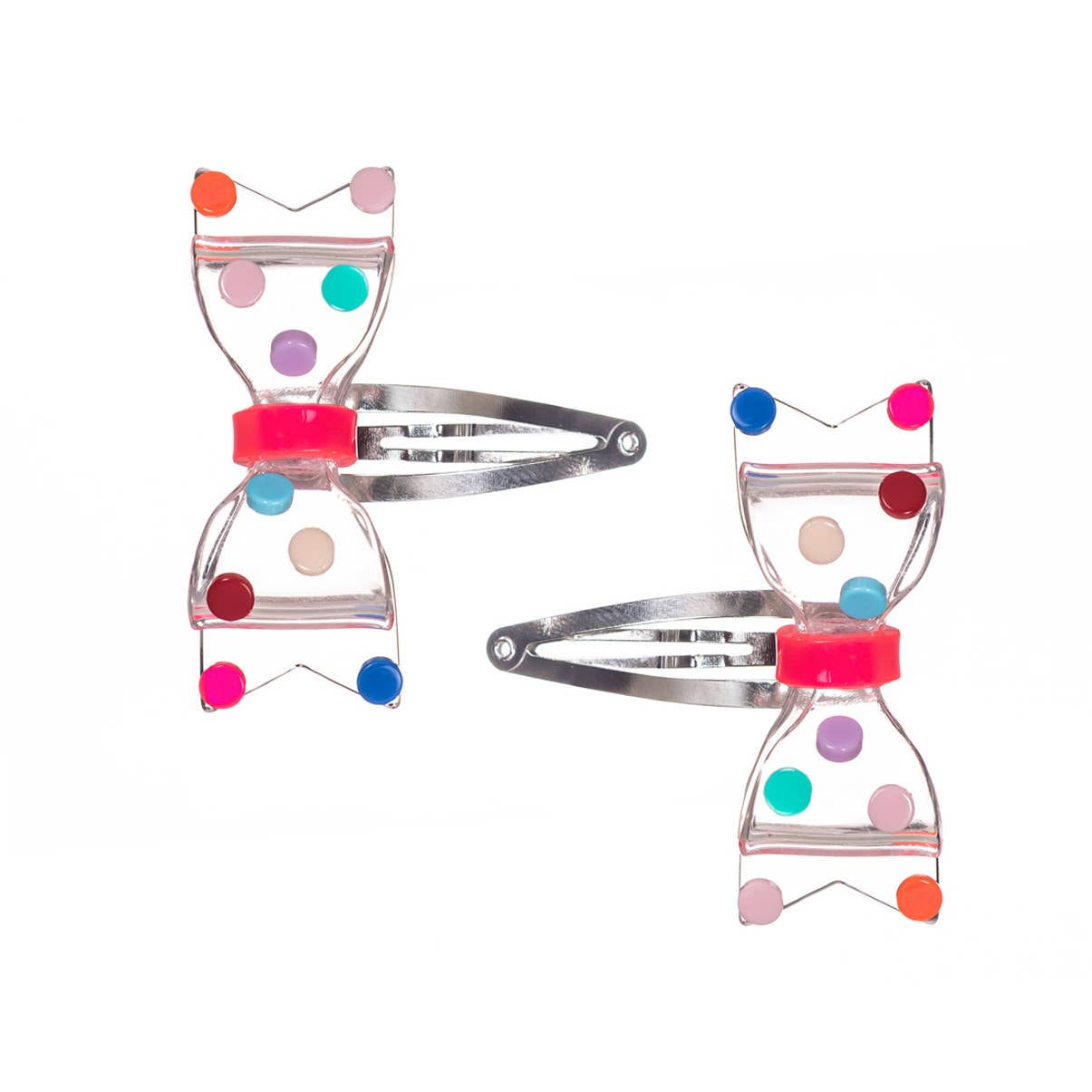 Fat Bow Colorful Dots Clear Ponytail   Trada Marketplace