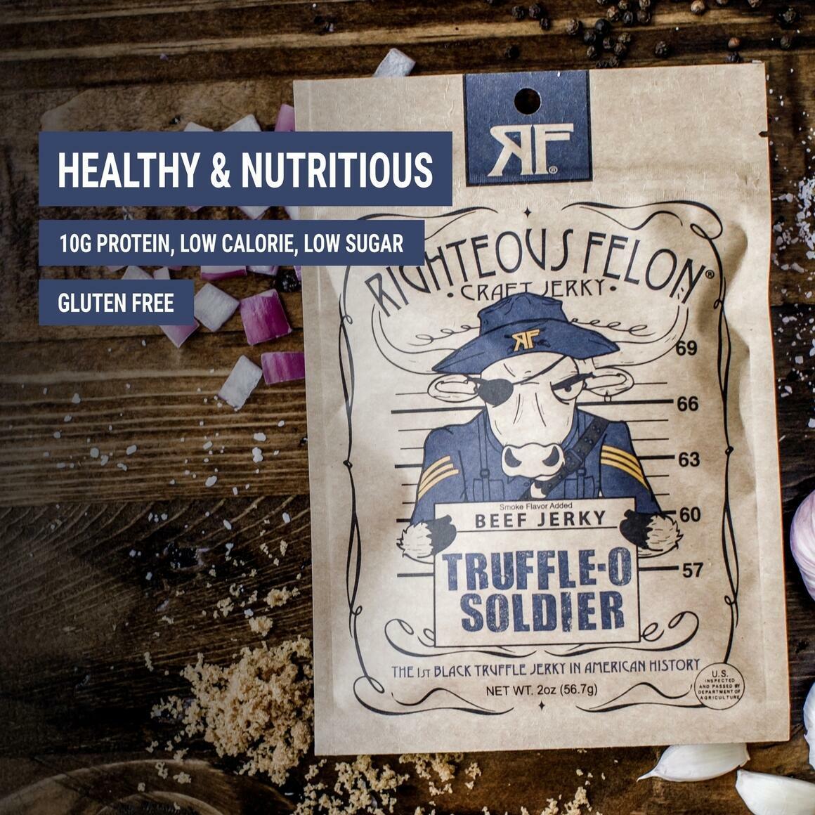 Truffle-O Soldier Beef Jerky   Trada Marketplace