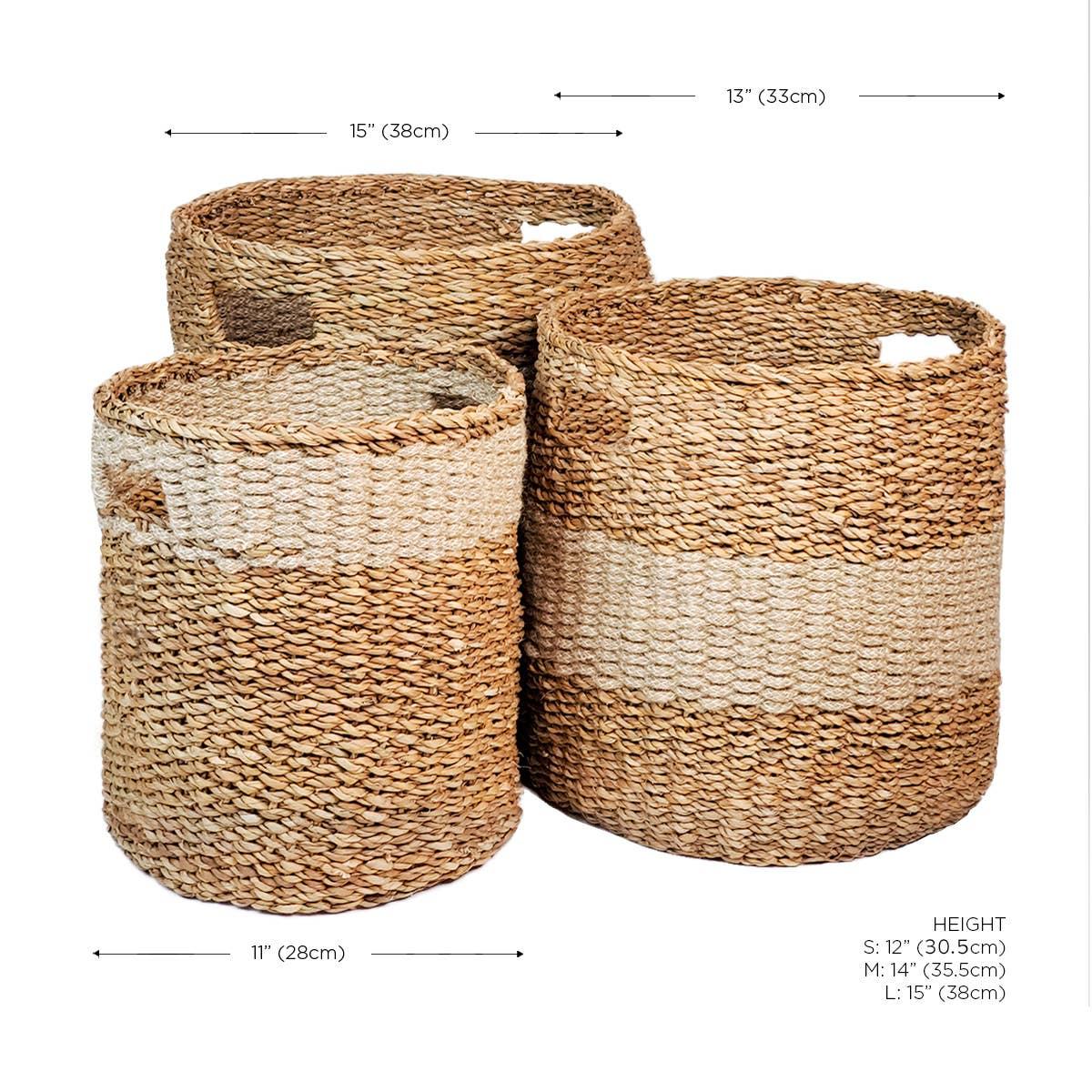 Savar Hamper - Natural (Set of 3) | Trada Marketplace