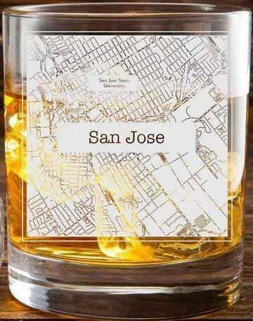 San Luis Obispo College Town Glasses (Set of 2)   Trada Marketplace