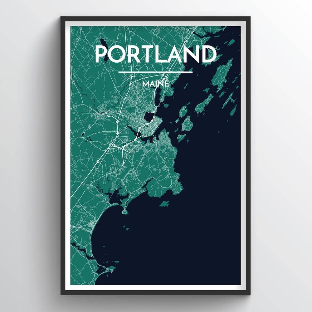 Portland - Maine City Map | Trada Marketplace