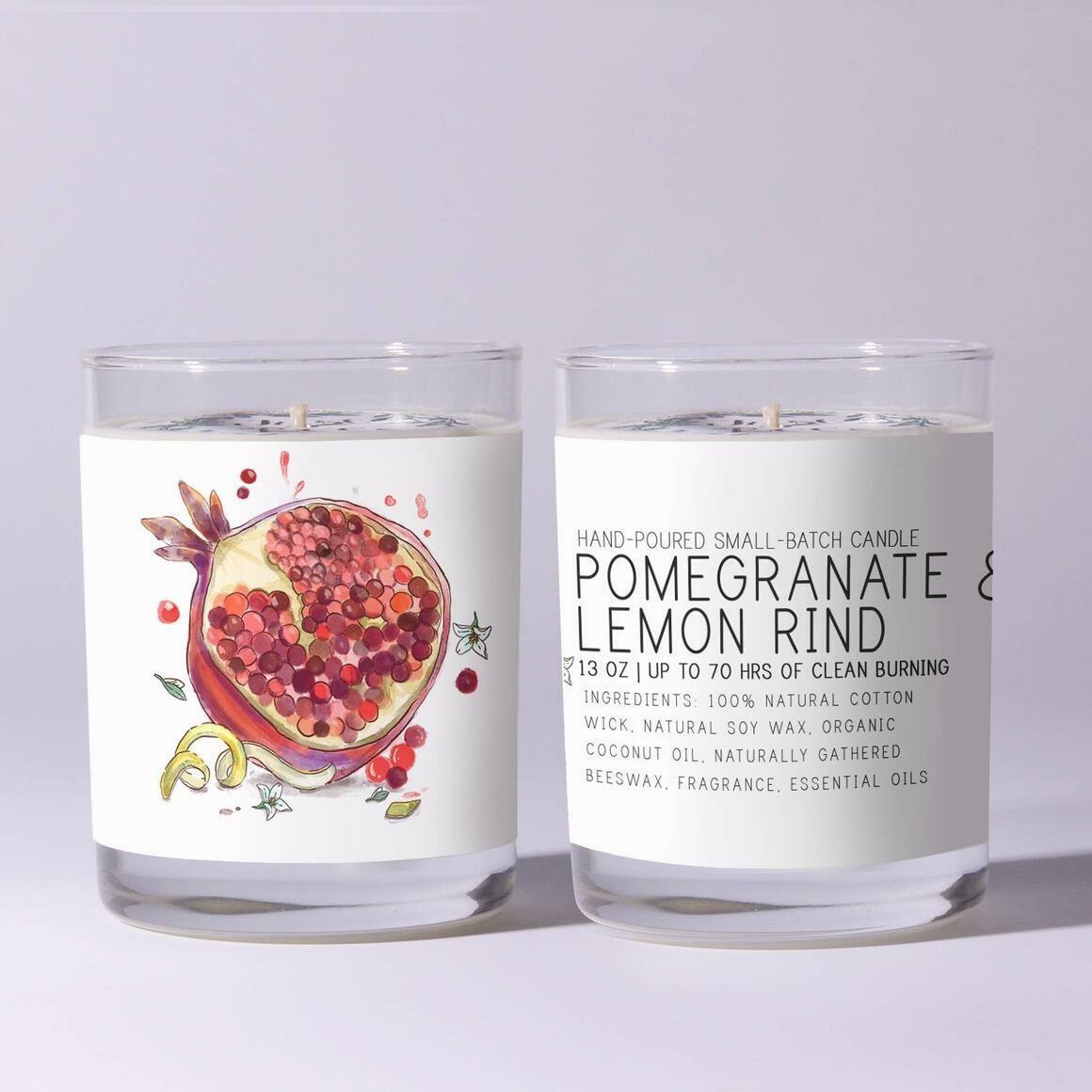 Pomegranate & Lemon Rind - Just Bee Candles | Trada Marketplace