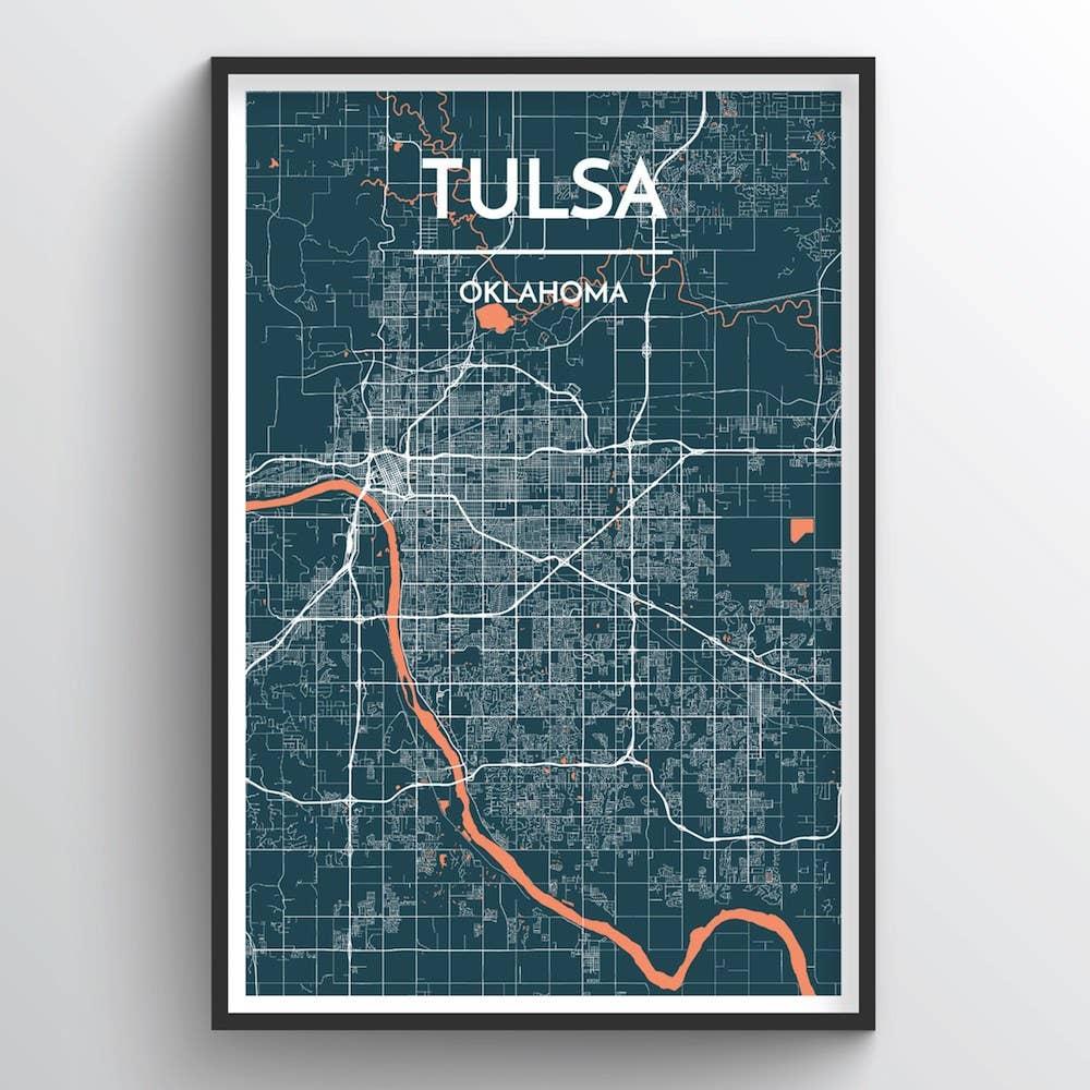 Tulsa City Map | Trada Marketplace