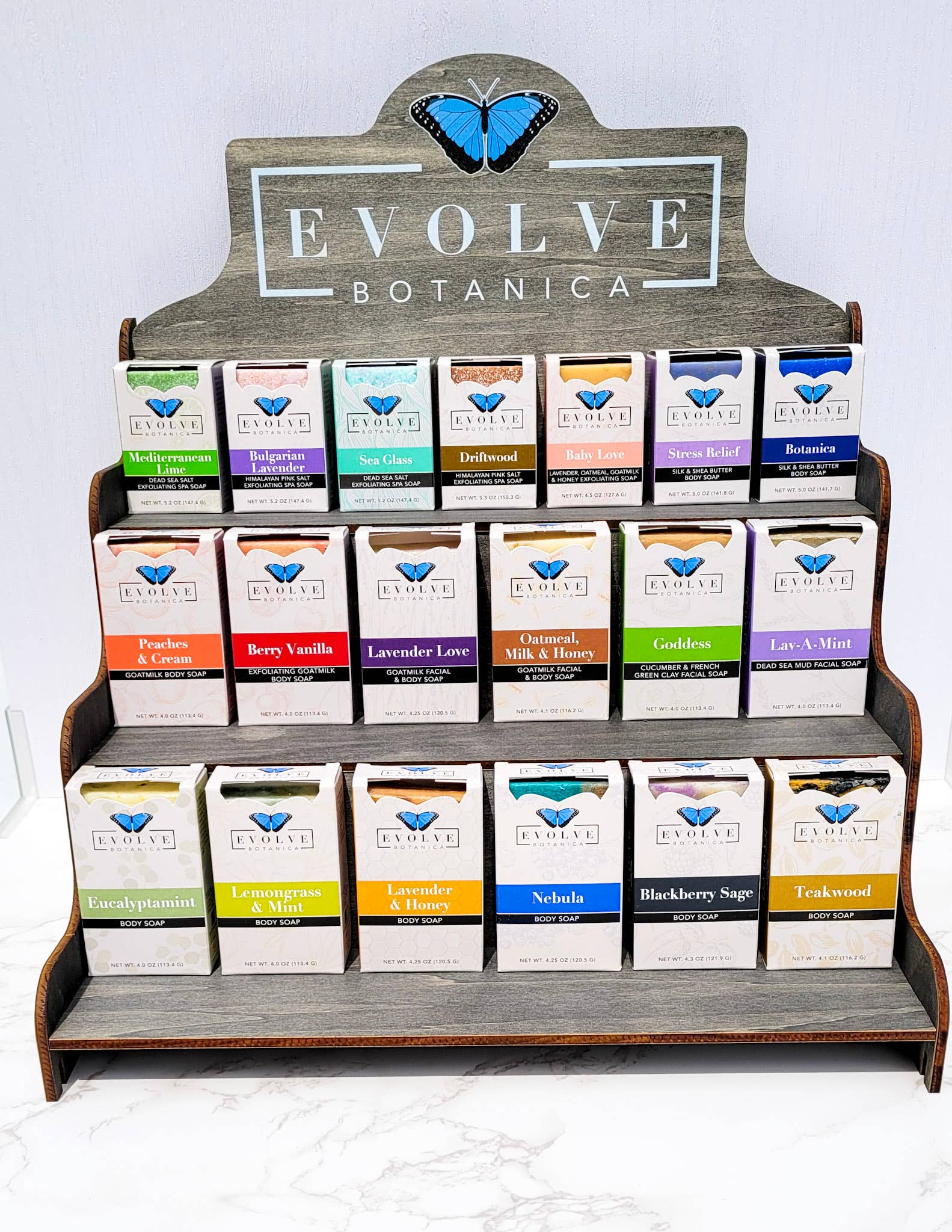 Soap or Product Display - Large Shelf (Filled-Soap Mix) | Trada Marketplace