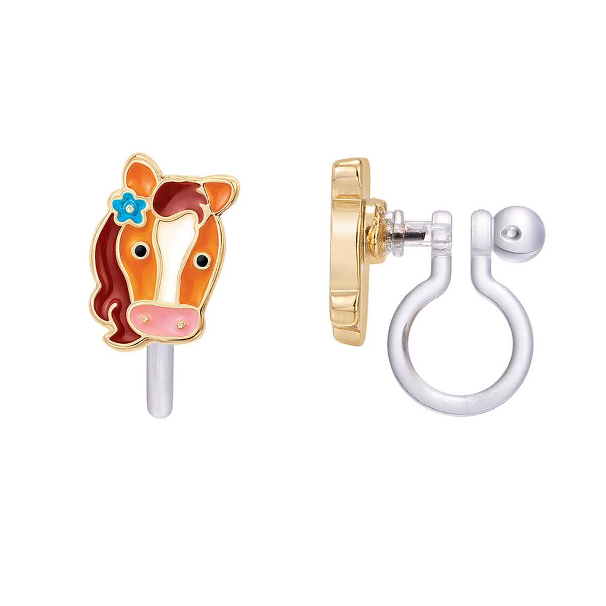 CLIP ON Cutie Earrings- Pretty Pony | Trada Marketplace