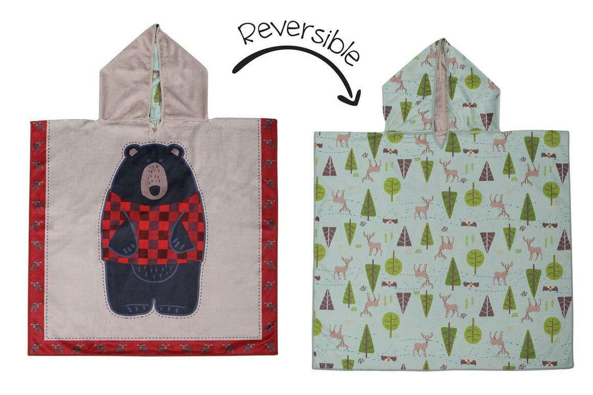 Kids UPF50+ Cover-Up - Black Bear/Cottage | Trada Marketplace
