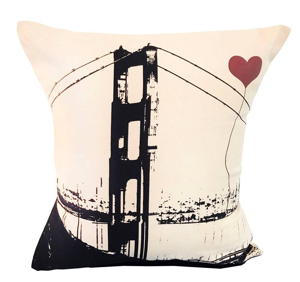 "San Francisco Golden Gate Bridge 16""x16"" Square Pillow | Trada Marketplace"