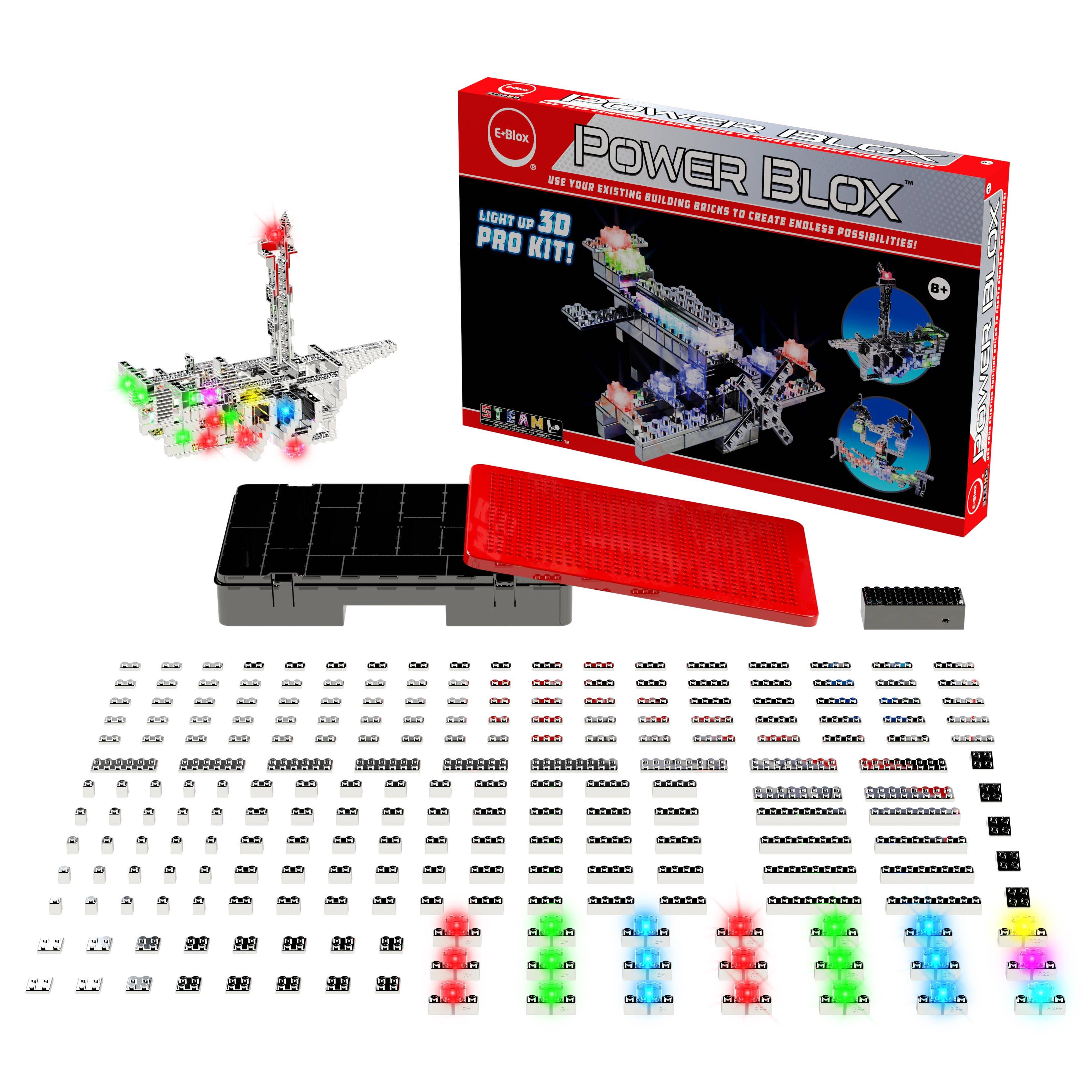 Power Blox Pro Set - Build an Airplane with Flashing Lights   Trada Marketplace