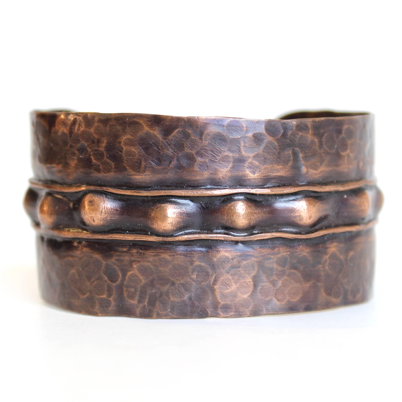 The Stud Wide Copper Cuff | Trada Marketplace